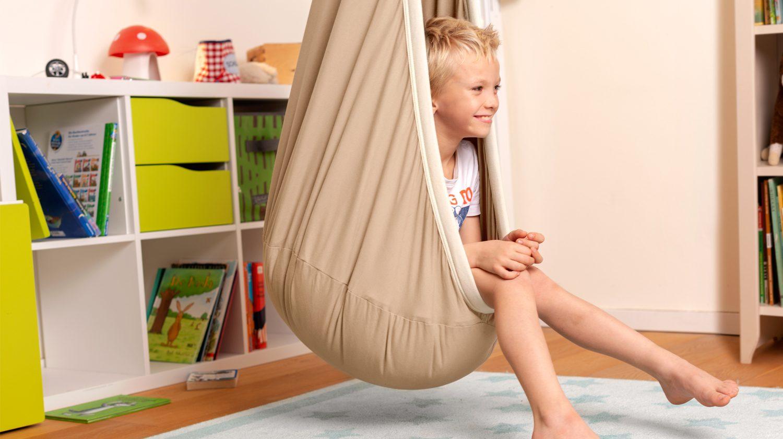 Hängehöhlen können farblich an die Einrichtung des Kinderzimmers angepasst werden