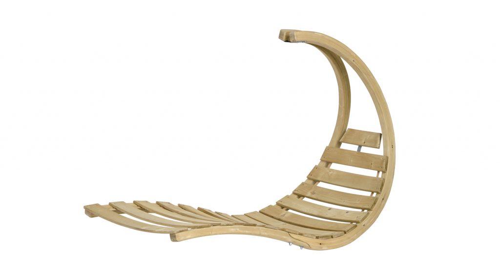 Zu sehen ist ein Hängesessel Gestell aus Holz