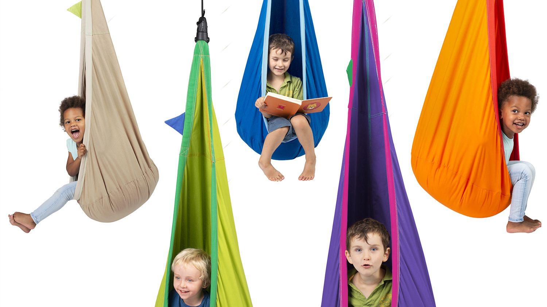Die Hängehöhle für das Kinderzimmer ist in vielen Farben erhältlich