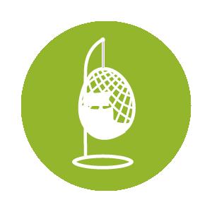 Dies ist ein Icon mit einem Korbhängesessel – klicke hier
