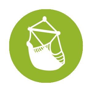 Das Icon zeigt eine Sitzhängematte – klicke hier